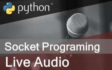 How to send and receive live audio using socket programming in Python