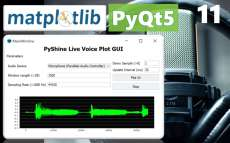 PytQt5 Live Audio GUI with start and stop buttons