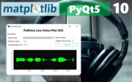 PytQt5 GUI design to plot Live audio data from Microphone