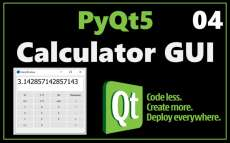 How to make a calculator GUI in python with PyQt5