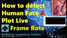 How to plot realtime frame rate of a web camera