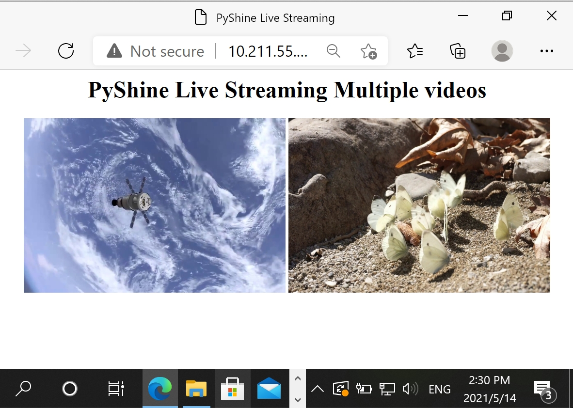 How to stream multiple videos on an HTML webpage