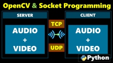 How to send audio and video using socket programming in Python