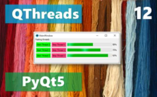 Working with multiple threads in PyQt5