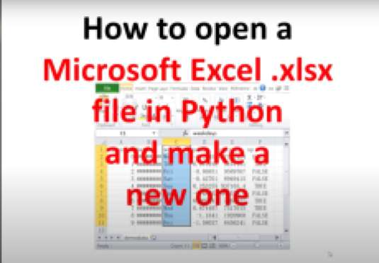 How to read and write in xlsx file using python