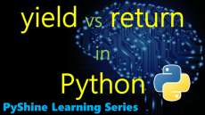 What are yield and return statements in Python